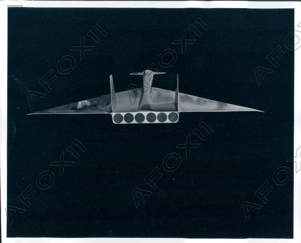 Details about 1960 Air Force North American Aviation B 70 Valkyrie Scale Model Press Photo