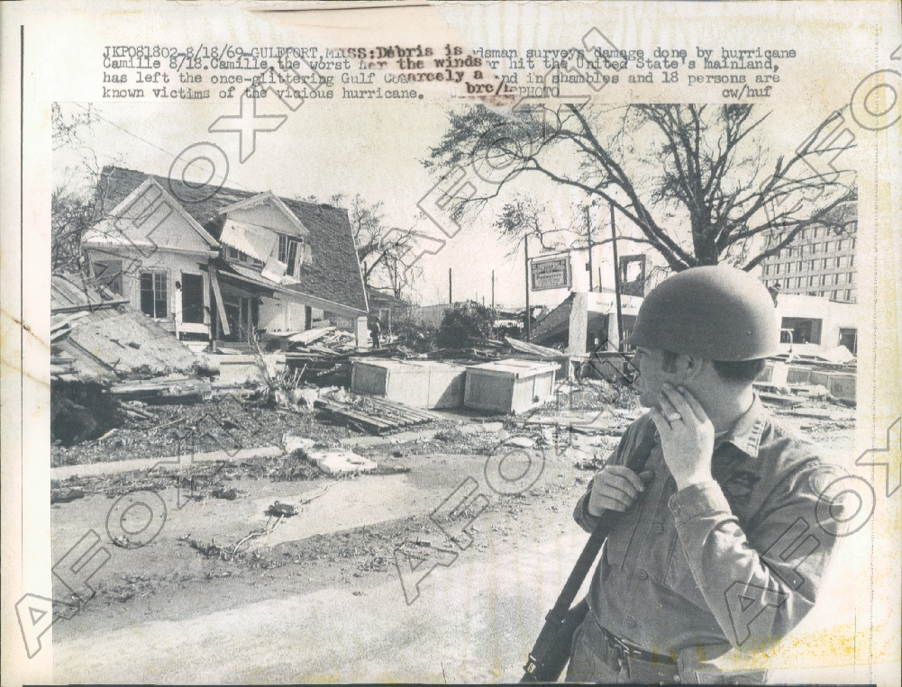 1969 Gulfport Ms Severe Damage Of City Left By Hurricane