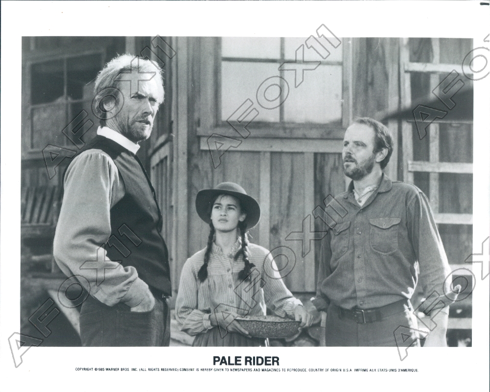 Details about 1985 Clint Eastwood & Sydney Penny & Michael Moriarty In Pale  Rider Press Photo