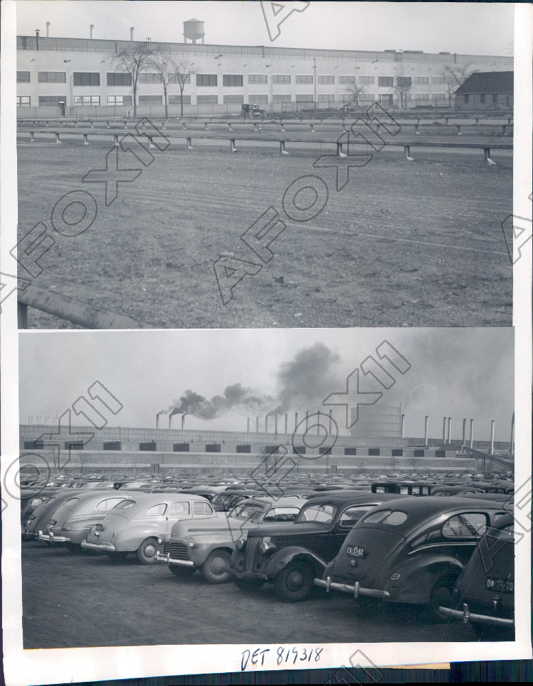 1946 detroit michigan ford motor company rouge plant shut for Ford motor company detroit mi